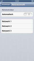 Apple iPhone 5 - Netzwerk - Manuelle Netzwerkwahl - Schritt 5