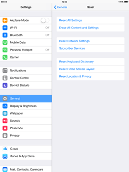 Apple iPad mini 2 - iOS 8 - Mobile phone - Resetting to factory settings - Step 5