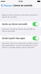 Apple iPhone SE - iOS 10 - iOS features - Centre de contrôle - Étape 4