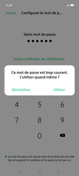 Oppo Find X2 Lite - Sécuriser votre mobile - Activer le code de verrouillage - Étape 8
