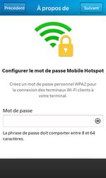BlackBerry Z10 - Internet et connexion - Partager votre connexion en Wi-Fi - Étape 11