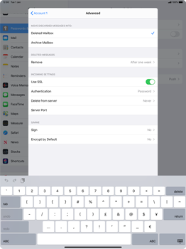 Apple iPad Pro 12.9 (2nd gen) - iPadOS 13 - E-mail - manual configuration - Step 23