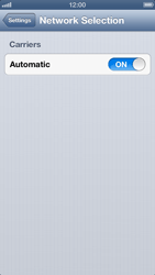 Apple iPhone 5 - Network - Manually select a network - Step 4