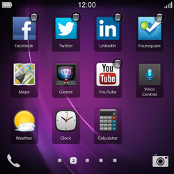 BlackBerry Q10 - Getting started - Personalising your Start screen - Step 12