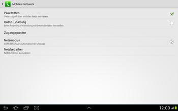 Samsung Galaxy Tab 2 10.1 - Internet und Datenroaming - Manuelle Konfiguration - Schritt 7