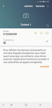 Samsung Galaxy Note 8 - Contact, Appels, SMS/MMS - Ajouter un contact - Étape 10