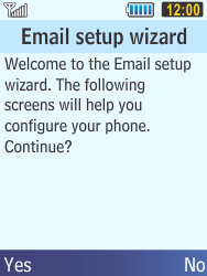 Samsung C3350 Xcover 2 - E-mail - Manual configuration - Step 10