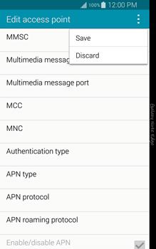 Samsung Galaxy Note Edge - Internet and data roaming - Manual configuration - Step 15