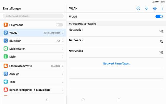 Huawei MediaPad T3 (10.0) LTE - WLAN - Manuelle Konfiguration - Schritt 5