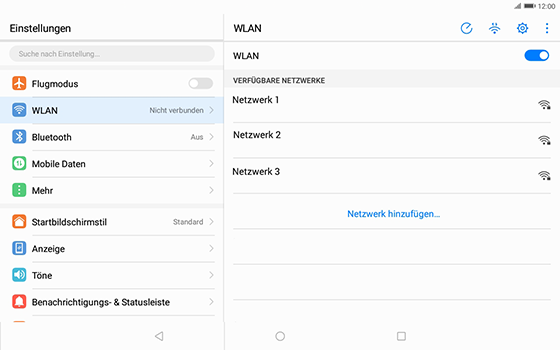 Huawei MediaPad T3 (10.0) LTE - WLAN - Manuelle Konfiguration - 1 / 1
