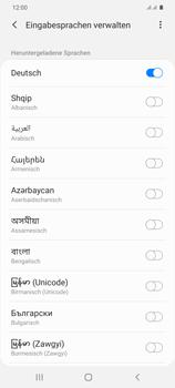 Samsung Galaxy S20 Plus 5G - Startanleitung - So fügen Sie eine Tastatursprache hinzu - Schritt 11