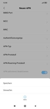 Xiaomi RedMi Note 7 - Internet und Datenroaming - Manuelle Konfiguration - Schritt 14
