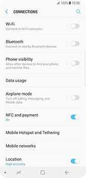 Samsung Galaxy S9 - Internet and data roaming - How to check if data-connectivity is enabled - Step 5