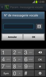 Samsung S7390 Galaxy Trend Lite - Messagerie vocale - configuration manuelle - Étape 9