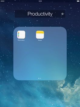 Apple iPad Air - Getting started - Personalising your Start screen - Step 5