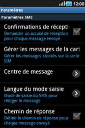 Samsung S5830 Galaxy Ace - SMS - configuration manuelle - Étape 4