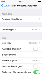 Apple iPhone 5s - iOS 8 - E-Mail - Manuelle Konfiguration - Schritt 8
