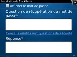 BlackBerry 9320 Curve - BlackBerry activation - BlackBerry ID activation - Étape 10