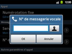 Samsung B5510 Galaxy TXT - Messagerie vocale - configuration manuelle - Étape 8