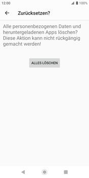 Sony Xperia XZ2 - Android Pie - Fehlerbehebung - Handy zurücksetzen - Schritt 11