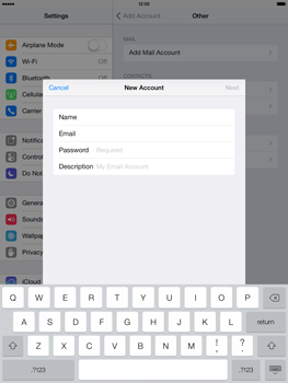 Apple iPad Air - E-mail - manual configuration - Step 12