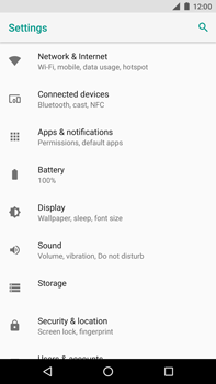 Huawei Nexus 6P - Android Oreo - Network - Change networkmode - Step 5