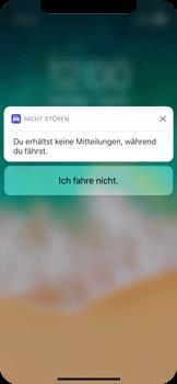 """Apple iPhone X - iOS 11 - Nicht stören – Sicheres Fahren – """"Do Not Disturb while Driving"""" deaktivieren (für Fahrer) - 4 / 6"""
