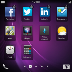 BlackBerry Q10 - Getting started - Personalising your Start screen - Step 14