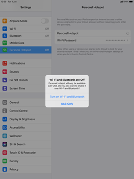 Apple ipad-10-2-7th-gen - WiFi - How to enable WiFi hotspot - Step 7