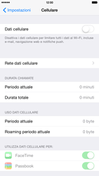Apple iPhone 6 Plus - iOS 8 - Internet e roaming dati - Come verificare se la connessione dati è abilitata - Fase 4