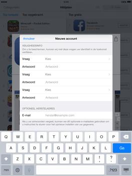Apple iPad 2 iOS 8 - Applicaties - Account aanmaken - Stap 13