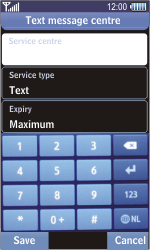 Samsung S8500 Wave - SMS - Manual configuration - Step 9