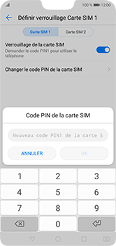 Huawei P20 lite - Sécuriser votre mobile - Personnaliser le code PIN de votre carte SIM - Étape 9