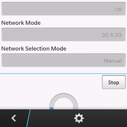 BlackBerry Q10 - Network - Manual network selection - Step 8