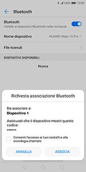 Huawei Mate 10 Pro - Bluetooth - Collegamento dei dispositivi - Fase 7