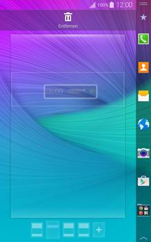 Samsung Galaxy Note Edge - Startanleitung - Installieren von Widgets und Apps auf der Startseite - Schritt 6