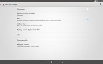 Sony Xperia Tablet Z2 LTE - Internet et roaming de données - Désactivation du roaming de données - Étape 5