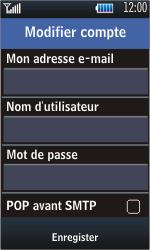 Samsung S5620 Monte - E-mail - configuration manuelle - Étape 11