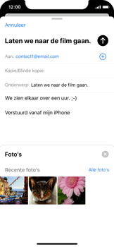 Apple iPhone X - iOS 13 - E-mail - e-mail versturen - Stap 10