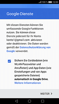 Huawei P9 Plus - E-Mail - Konto einrichten (gmail) - 1 / 1