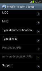 Samsung Galaxy Trend Lite - Internet et roaming de données - Configuration manuelle - Étape 12