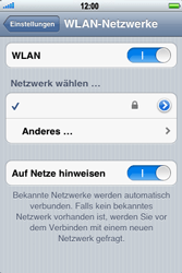 Apple iPhone 3GS - WLAN - Manuelle Konfiguration - Schritt 7