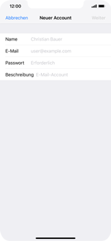 Apple iPhone XS Max - E-Mail - Manuelle Konfiguration - Schritt 7