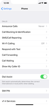 Apple iPhone X - iOS 12 - WiFi - Enable WiFi Calling - Step 5