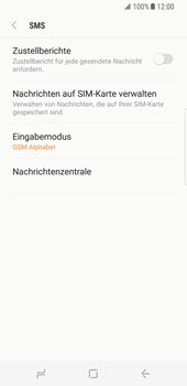 Samsung Galaxy S8 - SMS - Manuelle Konfiguration - Schritt 8