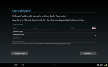 Samsung Galaxy Tab 2 10.1 - Apps - Einrichten des App Stores - Schritt 14