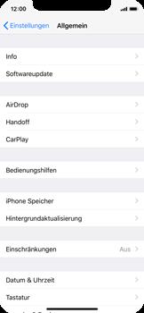 Apple iPhone X - Apps - Automatisches Entfernen nicht genutzter Apps aktivieren - 0 / 0