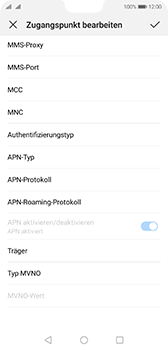 Huawei P20 - Android Pie - MMS - Manuelle Konfiguration - Schritt 14