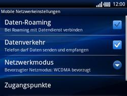 Sony Ericsson Xperia X10 Mini Pro - Netzwerk - Netzwerkeinstellungen ändern - Schritt 6