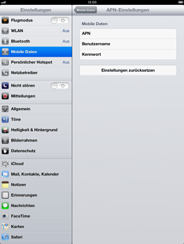 Apple iPad Retina - Internet und Datenroaming - Manuelle Konfiguration - Schritt 6